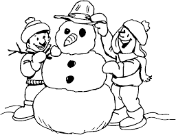 coloring coloring paper for kids page of snowman saber tooth