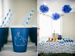 whale baby shower ideas awesome looked in white and blue theme for foods and water cup