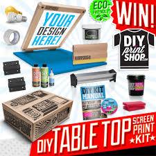 best t shirt shop table top diy screenprinting kit giveaway from diy print shop