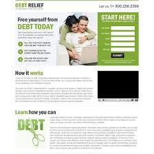 responsive debt relief or debt settlement business landing page