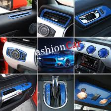 Mustang Interior Accessories 35pcs Set Blue Red Interior Accessories Whole Kit Cover Trims For