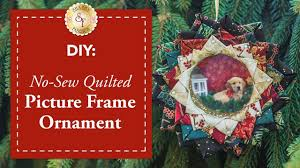 diy no sew quilted picture frame ornament with bosworth