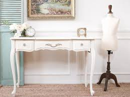 vintage french shabby chic vanity desk console table with flip