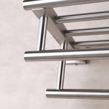 stainless steel bath towel rack bathroom shelf with double towel