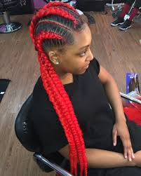 red cornrow braided hair spicy red locks jj pinterest african braids long braids and