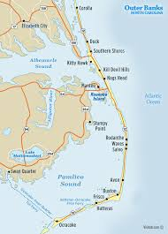 map of carolina outer banks nc map visit outer banks obx vacation guide