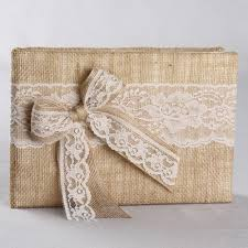 guest books country burlap guest book