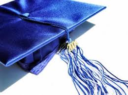 blue cap and gown news post seniors cap