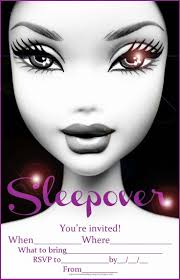 140 best free sleepover invitations images on pinterest