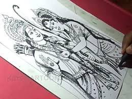 lord sri rama navami greeting drawing youtube