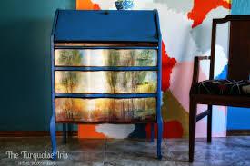 the turquoise iris furniture u0026 art blue antique secretary desk