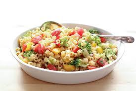 Pasta Salad Ingredients Marinated Vegetable Pasta Salad Barefeetinthekitchen Com