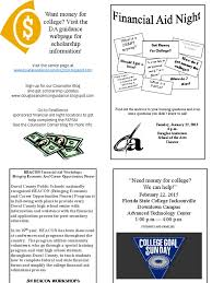 financial aid night flyer 2015 docshare tips