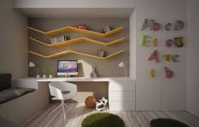 study room with bed white drawers light purple color scheme side