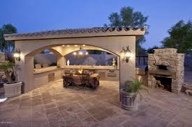 elegant outdoor entertainment area pool patio porch and yard
