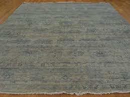 Transitional Rugs 9x12 9 U0027 X 12 U0027 Oriental Rug Wool And Silk Transitional Abrash Handmade