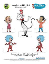 cat in the hat finger puppets puppets pinterest dr seuss