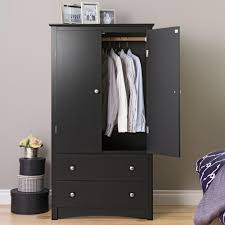 Solid Wood Armoire Wardrobe Prepac Sonoma Black Armoire Bdc 3359 K The Home Depot