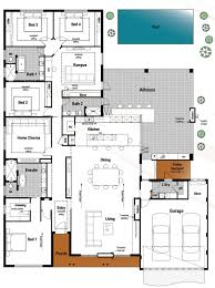 floor plan friday 4 bedroom 3 bathroom with modern skillion roof
