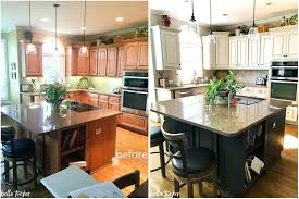 Painting Old Kitchen Cabinets Before And After Painting Old Kitchen Cabinets Before And After Black Painted