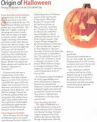 The Origins Of Halloween by Christian Homekeeping October 2010