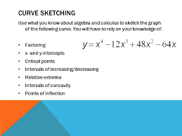 comparison of 1 st and 2 nd derivative u003d0intervalsextrema test 1