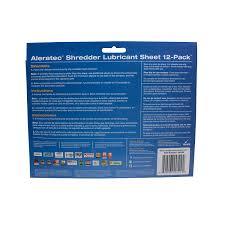 amazon com aleratec shredder lubricant sheets white 240165