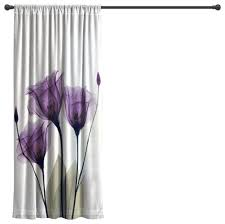 Curtains 95 Laural Home Gentian Hope Sheer Window Curtain Contemporary