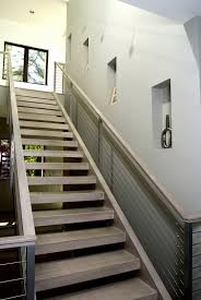 Modern Banister Rails Interior General Modern Staircase Design Inspiration With Glass