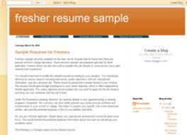 Sample Resume Headline For Freshers by Resume Title Freshers Ammu420 Tk