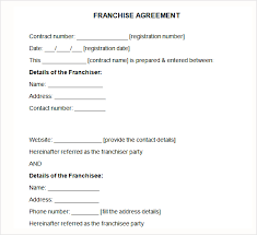 licensing agreement template free top 5 samples of franchise agreement templates word templates