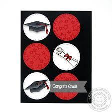 sunny studio red white u0026 black graduation cap u0026 diploma card by