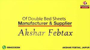silk bed sheets u0026 double bed sheets by akshar febtax jaipur youtube