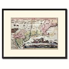new england vintage antique map wall art home decor gift ideas