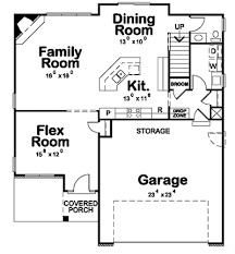 Family Room Fireplace And Flex Room DB Architectural - Family room floor plans