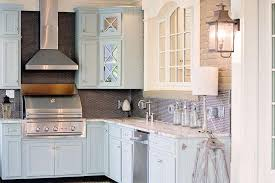 brown kitchen cabinets with backsplash blue kitchen cabinets with brown granite countertops