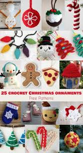 Amigurumi Christmas Ornaments - 25 crochet christmas ornaments free patterns follow us for only