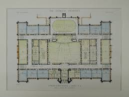 main floor camden high camden nj 1918 original plan