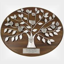 25th anniversary gifts personalized silver family tree plaque 25th anniversary gift
