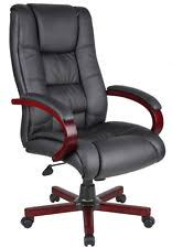 Black Leather Office Chairs Wood Leather Office Chair Ebay