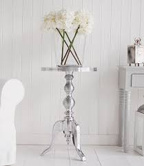 silver side table uk kensington polished metal silver side table white and grey living