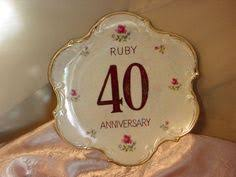 40th anniversary plates vintage 40th happy anniversary plate keepsake 9 inch gift idea