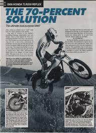 honda reflex 1989 honda tlr 200 reflex test www retrotrials com