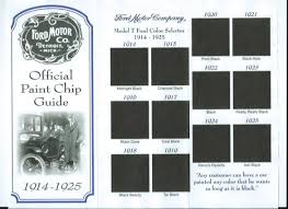 model t ford forum model t paint code chart 1914 1925