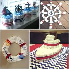 Nautical Baby Shower Table Decorations Party Ideas Ahoy Its A Boy