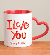 heart shaped mug personalized i you mug with heart shaped handle