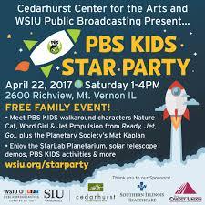 cape girardeau halloween city wsiu cedarhurst to host free pbs kids star party family event on