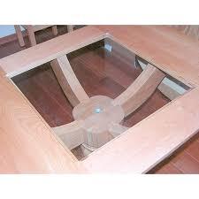 Glass Table Pedestal Folding Leaf Pedestal Dining Table Bass Synagogue Furniture