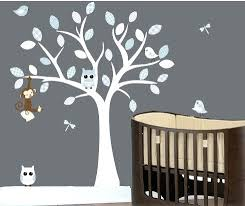 White Tree Wall Decal Nursery Tree Wall Decals For As Well As Wall Decals For Nursery White