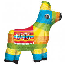 fiesta pinata mexico themed large supershape foil balloon 71x69